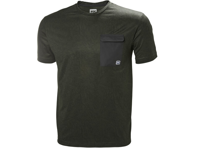 Helly Hansen Lomma T-Shirt Homme, forest night print